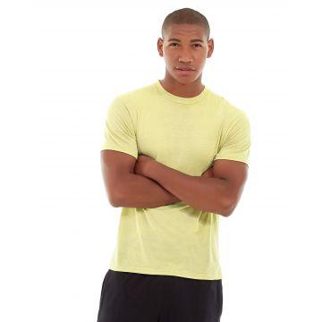 Aero Daily Fitness Tee-L-Yellow
