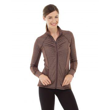 Riona Full Zip Jacket-S-Brown